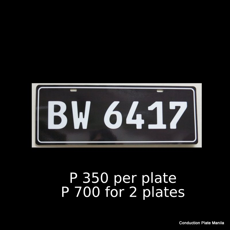 Classic Black Conduction Plates