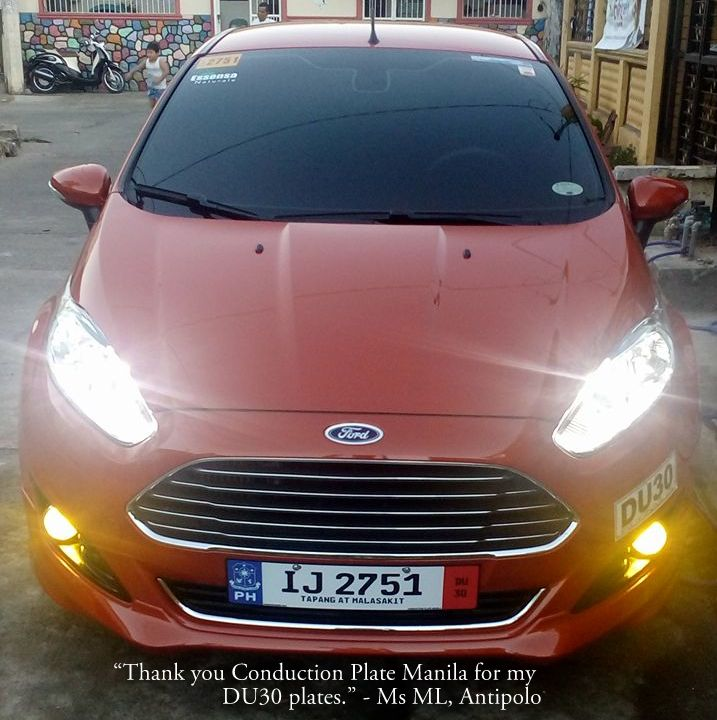 DU30 Euro - Ford Fiesta conduction plate