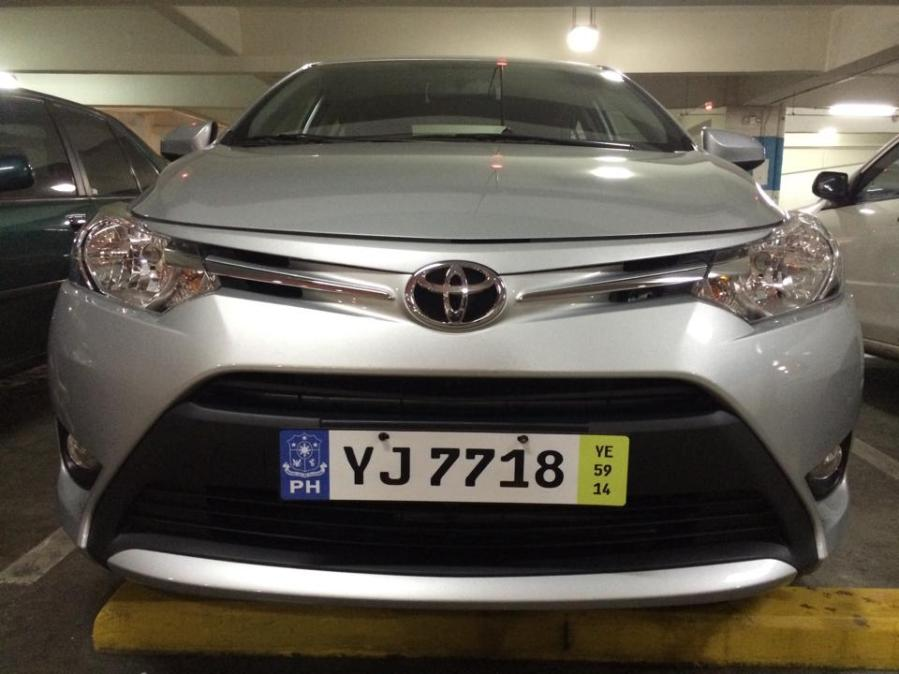 Euro plate on a Toyota Vios