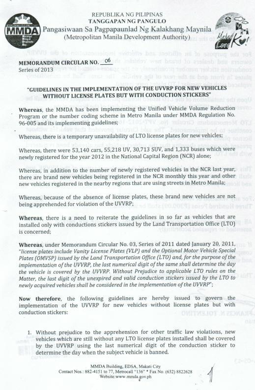 MMDA MC 6 page 1