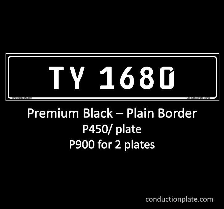 Premium Black Plain Border conduction plate