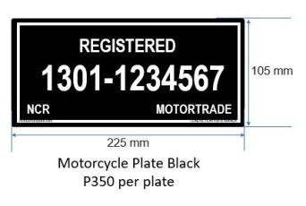 Motorcycle Black P350