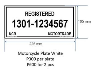 Motorcycle White P300